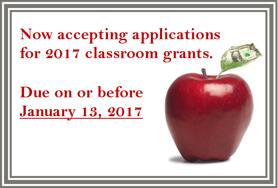 2017 classroom grant application